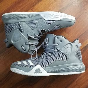 Adidas DT Bball Mid Basketball Shoes Bounce gray